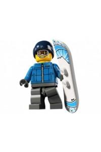 Лего Минифигурка Сноубордист, 8805