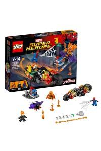 Лего Супер Герои Человек-паук: союз с Призрачным гонщиком, 76058