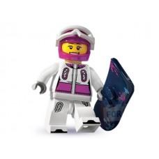 Лего Минифигурка Сноубордистка, 8803