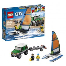 Лего Город Внедорожник с прицепом для катамарана, 60149