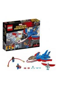 Лего Супер Герои Воздушная погоня Капитана Америка, 76076