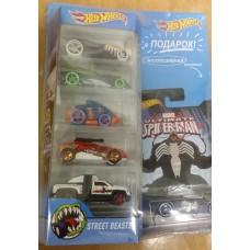 Машинки Хот Вилс Подарочный набор из 5 машинок и 1 коллекционная серия Человек-Паук