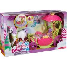 Набор Barbie Конфетная карета и кукла Барби DYX31