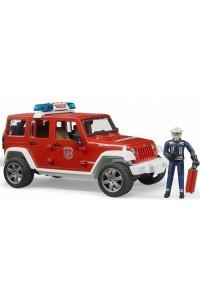 Внедорожник Брудер Jeep Wrangler Пожарная с фигуркой Bruder 02528