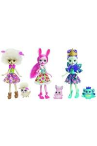 Набор Enchantimals из трех кукол со зверюшками FMG18