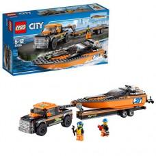 Лего Город Внедорожник 4x4 с гоночным катером, 60085