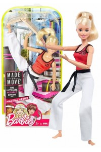 Кукла Barbie Каратистка Безграничные движения Барби Made To Move DWN39