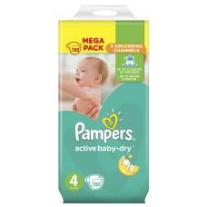 Pampers подгузники Active Baby-Dry 4 (8-14 кг) 132 шт
