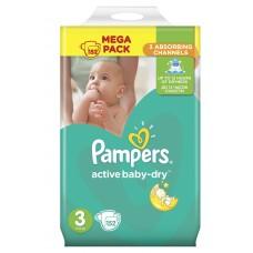 Pampers подгузники Active Baby-Dry 3 (5-9 кг) 152 шт