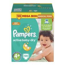 Pampers подгузники Active Baby-Dry 4+ (9-16 кг) 120 шт