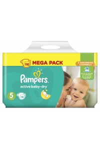 Pampers подгузники Active Baby-Dry 5 (11-18 кг) 110 шт