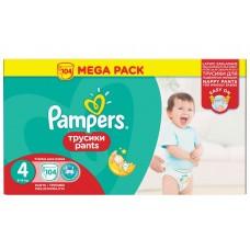 Pampers трусики Pants 4 (9-14 кг) 104 шт