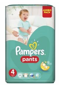 Pampers трусики Pants 4 (9-14 кг) 52 шт