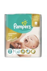 Pampers подгузники Premium Care 2 (3-6 кг) 80 шт