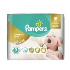 Pampers подгузники Premium Care 0 (1-2,5 кг) 30шт