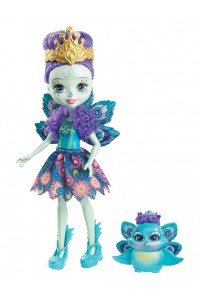 Кукла Enchantimals Пэттер Павлина с любимой зверюшкой DYC76