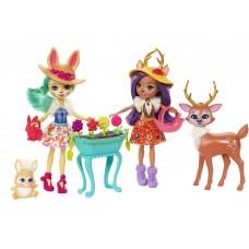 Набор кукол Enchantimals Подруги с любимыми зверюшками FDG01