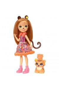 Кукла Enchantimals Чериш Гепарди с любимой зверюшкой FJJ20