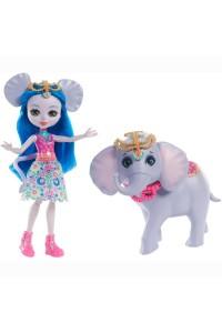 Кукла Enchantimals Екатерина Слоник с любимой зверюшкой FKY73